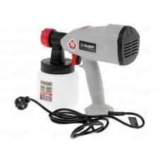 Краскопульт (краскораспылитель) электрич, ЗУБР КПЭ-350, HVLP, 0.8л, краскоперенос 0-700мл/мин, вязкость краски 60 DIN/сек, сопло 1.8мм, 350Вт