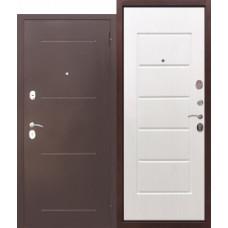 Дверь металлическая GARDA Белый Ясень 860L