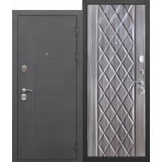 Дверь мет. Троя муар Палисандр темный 860L
