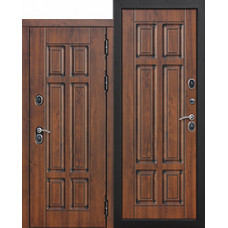 Дверь мет. Изотерма 13см Медный Мдф/Мдф Грецкий орех 960R