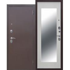 Дверь мет. Троя MAXI зеркало Белый ясень 860L