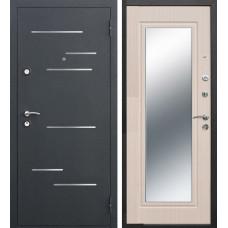 Дверь металлическая Версаль Зеркало Беленый дуб 860L